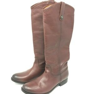Frye MELISSA Riding Boots SZ 7 Redwood Knee High